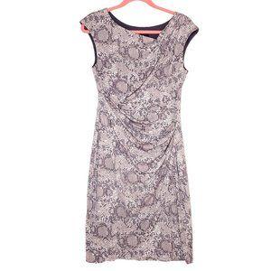 Connected Apparel Snake Skin Print Sheath Dress 8